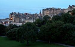 Edinburgh City. A wide-angle photo of Edinburgh City Centre Royalty Free Stock Photography