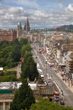 Edinburgh City Centre. Looking west along Princes Street in the city centre of Edinburgh, Scotland Royalty Free Stock Photo