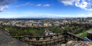 Edinburgh city from Edinburgh castle, Scotland, UK Royalty Free Stock Photo