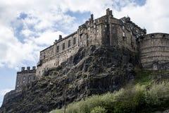 Edinburgh city historic Castle Rock sunny Day backside shot Royalty Free Stock Photography