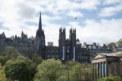 Edinburgh city historic Town Architecture Fassade Church Scotland Skyline. Edinburgh city the historic Town Architecture Fassade Church Scotland Skyline Royalty Free Stock Image