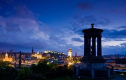 Edinburgh city night scene Royalty Free Stock Image