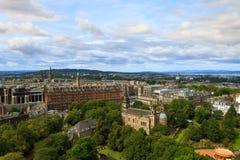 Edinburgh city panorama. From Castle. European travel destinations Royalty Free Stock Photo