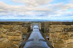 Edinburgh city panorama. From Castle. European travel destinations Stock Photos
