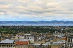 Edinburgh city panorama. From Castle. European travel destinations Royalty Free Stock Photography