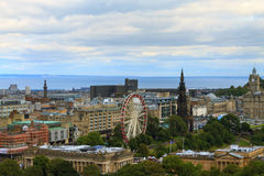 Edinburgh city panorama. From Castle. European travel destinations Stock Photo