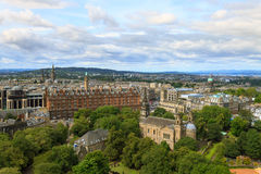 Edinburgh city panorama. From Castle. European travel destinations Stock Image