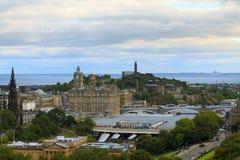 Edinburgh city panorama. From Castle. European travel destinations Stock Photography