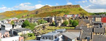 Edinburgh. City of Edinburgh, Salisbury Crags in background stock images