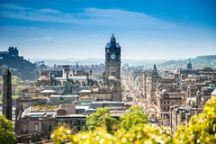 Edinburgh city Scotland stock image