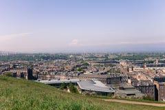 Edinburgh City, Scotland. View from Calton Hill to the Edinburgh City Stock Images