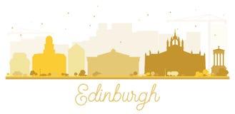 Edinburgh City skyline golden silhouette. Stock Photos