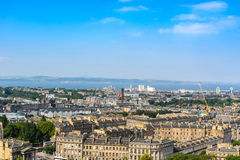 Edinburgh city, top view Royalty Free Stock Image