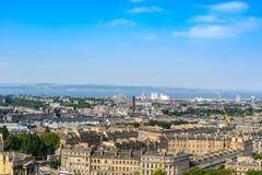 Edinburgh city, top view Royalty Free Stock Image