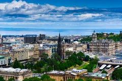 Edinburgh cityscape. Edinburgh city under the blue sky Stock Photos