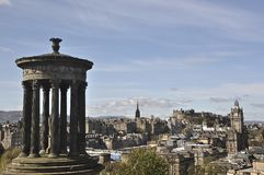 Edinburgh Cityscape from Calton Hill, Edinburgh, Scotland, UK Stock Photo
