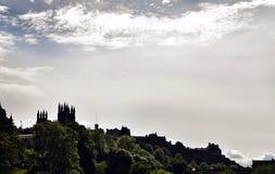 Edinburgh Cityscape. With Edinburgh Castle in backround Royalty Free Stock Image