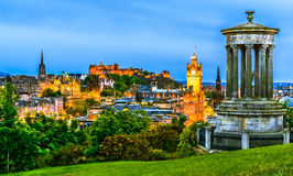 Edinburgh cityscape in the evening, Scotland Royalty Free Stock Images