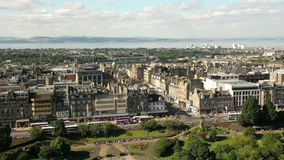 Edinburgh cityscape stock footage