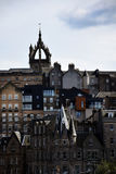 Edinburgh Cityscape with St Giles` Cathedral Tower. Edinburgh Cityscape with St Giles` Cathedral Grand, Gothic medieval building and Presbyterian place of Royalty Free Stock Images