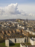 Edinburgh Cityscape, Tall Clouds Royalty Free Stock Image