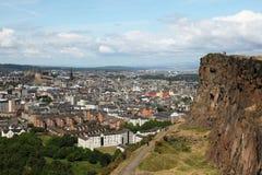 Edinburgh dal crag di Salisbury Immagine Stock Libera da Diritti