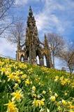 Edinburgh in de lente Stock Afbeeldingen