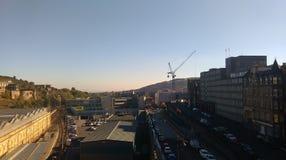 Edinburgh die over Waverley-post 2 kijken Stock Foto