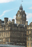 Edinburgh downtown with antique building and bridge. Scotland. U Royalty Free Stock Photos