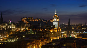Edinburgh at Dusk Royalty Free Stock Images