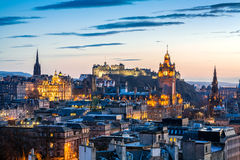 Edinburgh Evening Skyline HDR royalty free stock image