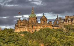 Edinburgh in Evening Sunlight Stock Photography
