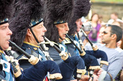 Edinburgh Festival 2009: Scottish Pipers at the Pa Royalty Free Stock Photography