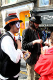 Edinburgh Festival Fringe 2014. Street theatre at the Edinburg Festival Fringe 2014 Stock Photo