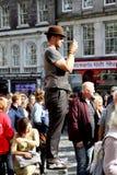 Edinburgh Festival Fringe 2014. Street theatre at the Edinburg Festival Fringe 2014. Watching the activities Stock Image