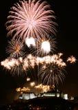 Edinburgh-Feuerwerke Lizenzfreie Stockfotografie