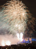 Edinburgh Fireworks Scotland UK Royalty Free Stock Photography