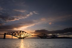 Edinburgh Forth Bridge Sunset Stock Photos