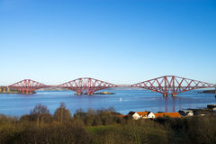 Edinburgh Forth Bridge. Taken from the queensferry bridge Royalty Free Stock Images