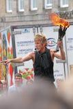 Edinburgh Fringe Festival 2013. A fire eater performs at the Edinburgh Fringe Festival 2013 Stock Images