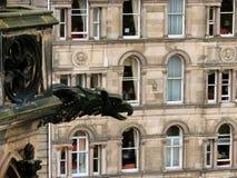 edinburgh gargoyle över Royaltyfri Bild