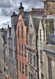 Edinburgh-Häuser lizenzfreie stockbilder