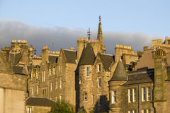 Edinburgh Houses in Sunset Royalty Free Stock Photo