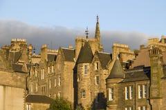 Edinburgh Houses in Sunset Royalty Free Stock Photo