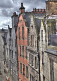 Edinburgh hus royaltyfria bilder