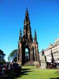 edinburgh królestwie Scotland pomnikowy Scott united Zdjęcie Royalty Free