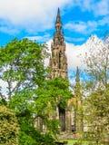 edinburgh królestwie Scotland pomnikowy Scott united Edynburg, Szkocja UK, Obrazy Royalty Free