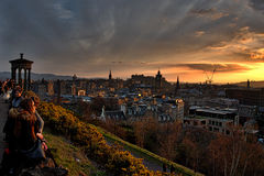 Edinburgh-Landschaft Stockfotografie