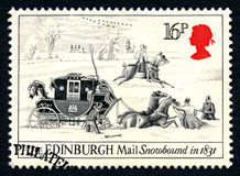 Edinburgh Mail Snowbound UK Postage Stamp Royalty Free Stock Images