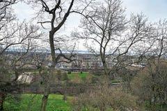 Edinburgh, Mening van de stad, verscheidene monumenten en Kasteel, Royalty-vrije Stock Foto's